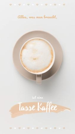 Template di design Coffee Shop Invitation Cup of Cappuccino Instagram Video Story