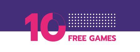 Entertainment and Games promotion Facebook cover Modelo de Design
