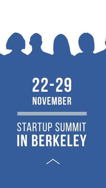 Plantilla de diseño de Startup Summit Announcement Businesspeople Silhouettes Instagram Story