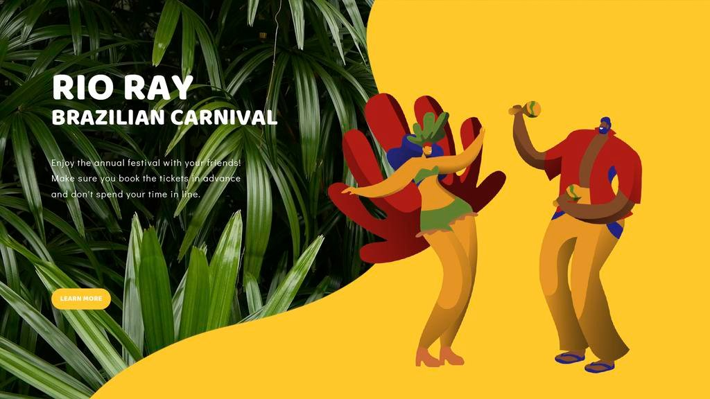 People dancing at carnival — Create a Design