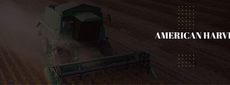 Designvorlage American Harvesters working in field für Facebook cover