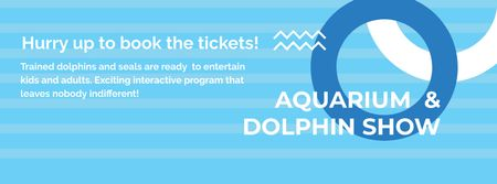 Aquarium & Dolphin show Facebook cover Modelo de Design