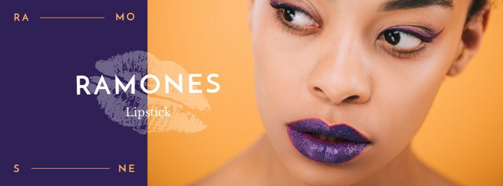 Young attractive woman with purple lips — Crear un diseño