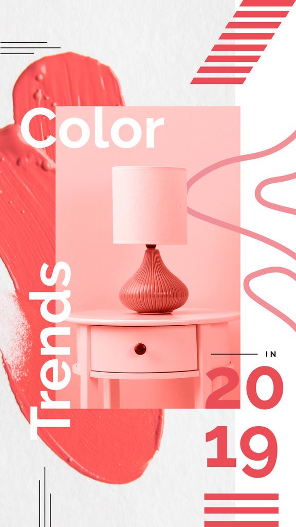 Cozy interior in pink colors — Create a Design