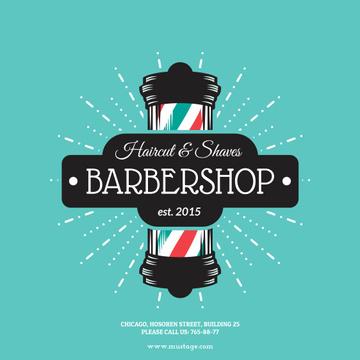 Barbershop vintage style poster