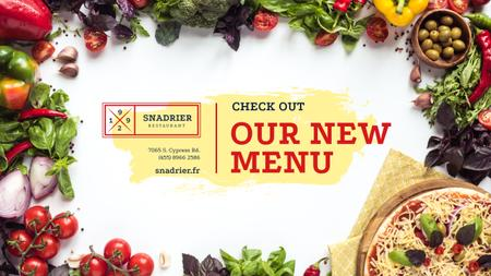 Restaurant New Menu Promotion with Cooking Pizza Youtube Design Template