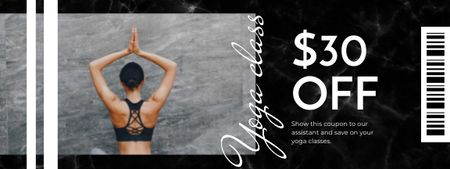 Plantilla de diseño de Yoga Classes offer Coupon