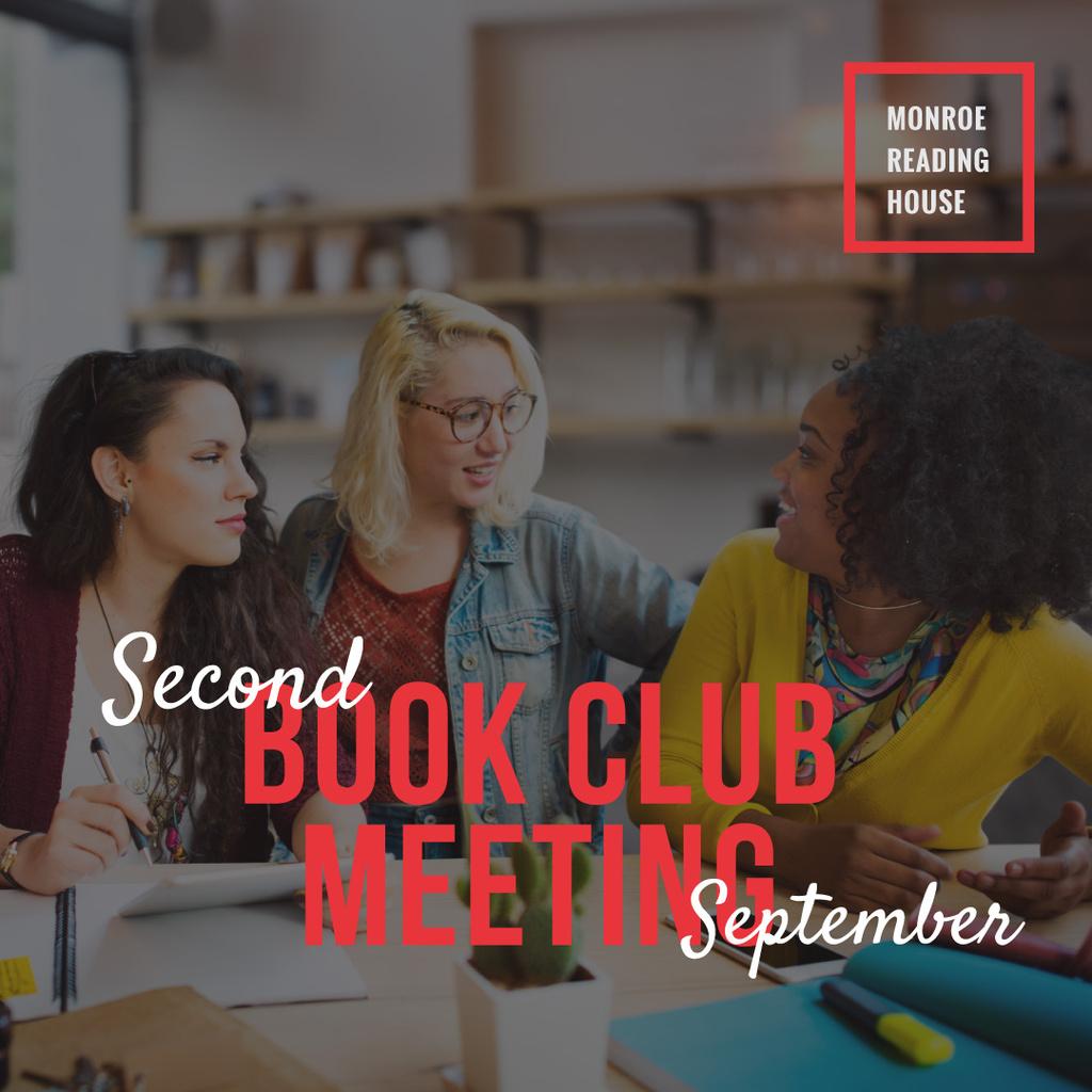 Book club meeting poster — ein Design erstellen