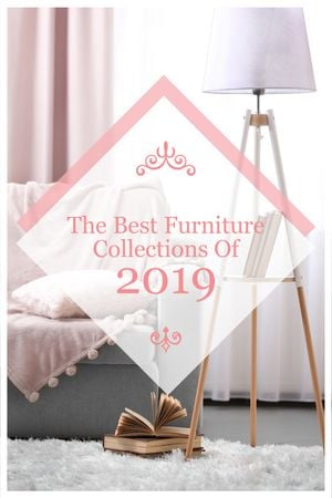 Furniture Offer Cozy Interior in Light Colors Tumblrデザインテンプレート