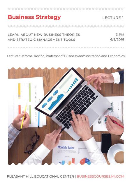 Modèle de visuel Business lecture in Educational Center - Poster