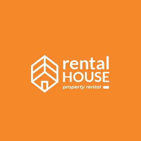 Designvorlage Property Rental with House Icon für Animated Logo