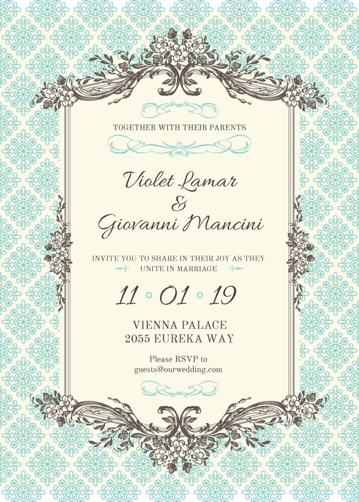Wedding Invitation in Vintage Style — Crea un design