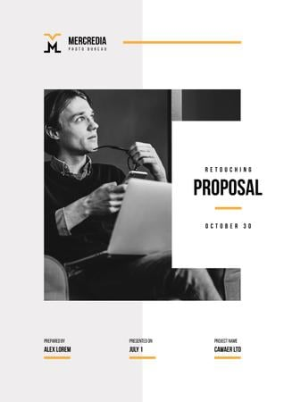 Retouching and Editing services Proposal Modelo de Design
