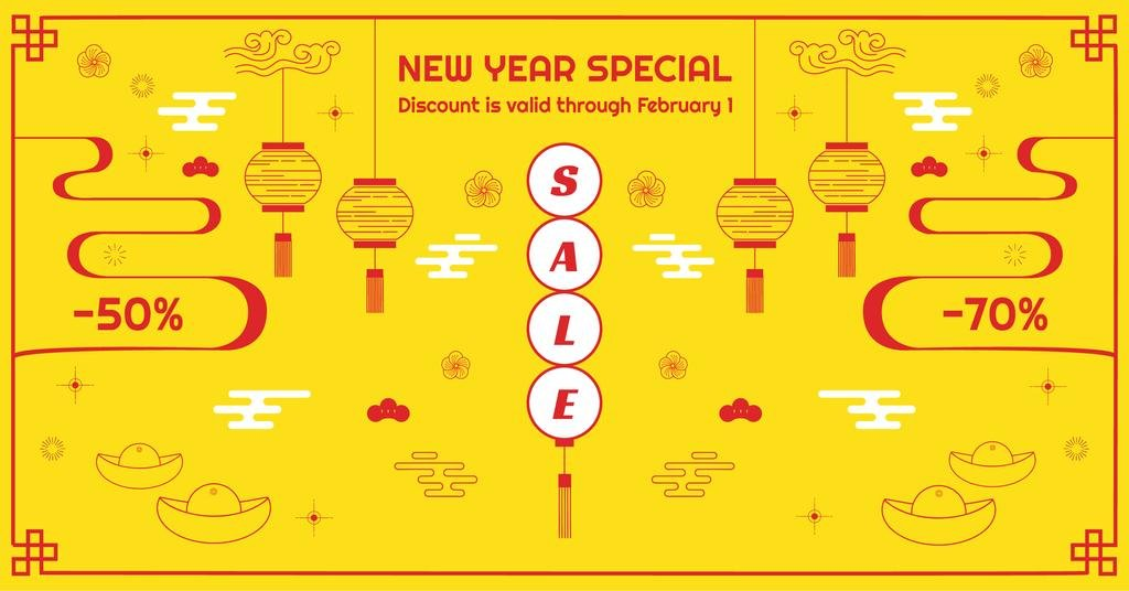 New Year Sale Chinese Style Attributes – Stwórz projekt