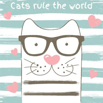 Cats rule the world poster