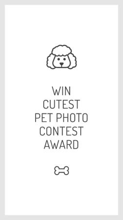 Designvorlage Pets photo contest with Dog icon für Instagram Story