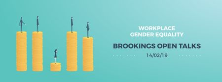 Ontwerpsjabloon van Facebook Video cover van Gender inequality on earnings