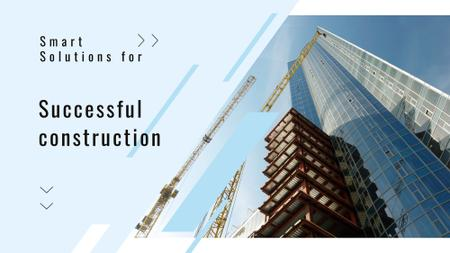 Real Estate Solution Construction Site Full HD video Modelo de Design