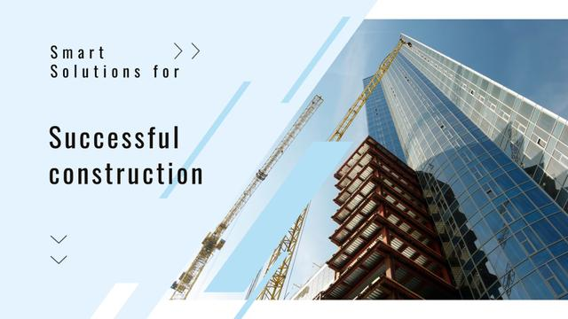 Plantilla de diseño de Real Estate Solution Construction Site Full HD video