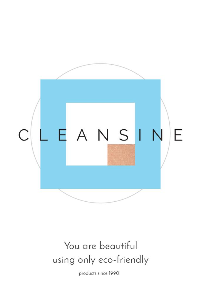 Cleansine cosmetic products — ein Design erstellen