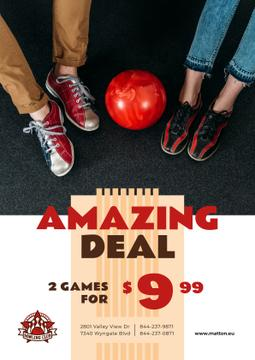 Bowling Offer Couple with Ball