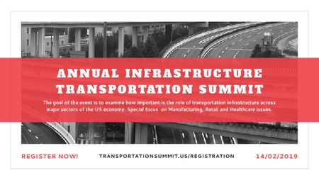 Annual infrastructure transportation summit Titleデザインテンプレート