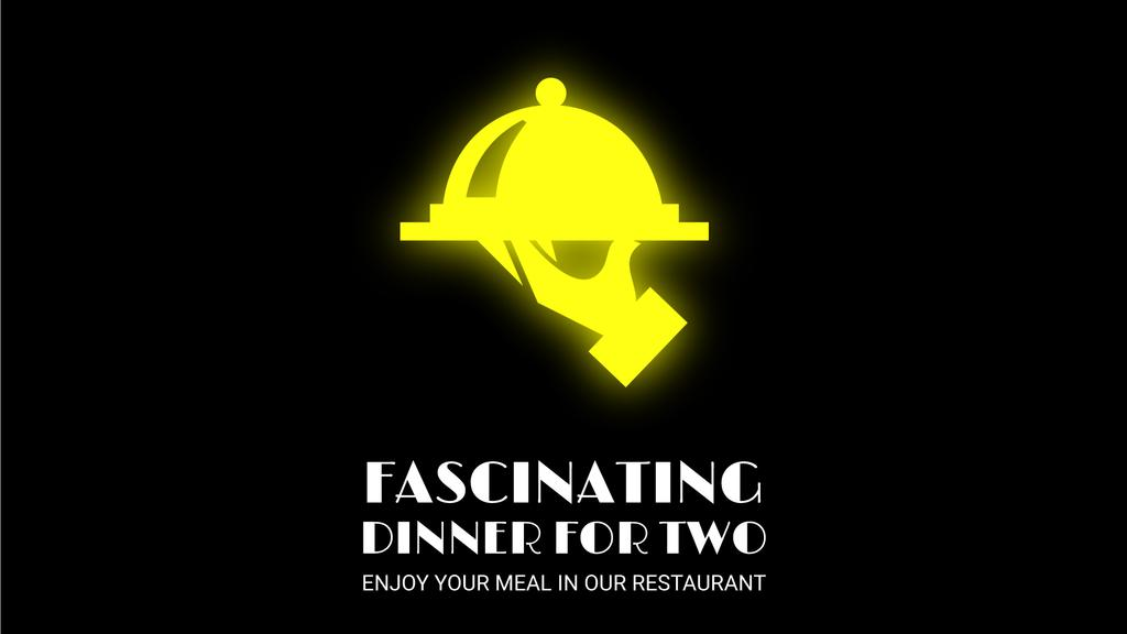 Neon Restaurant Signboard Food Icons — Створити дизайн