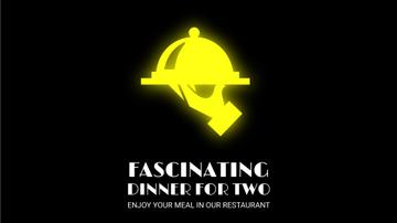 Neon Restaurant Signboard Food Icons