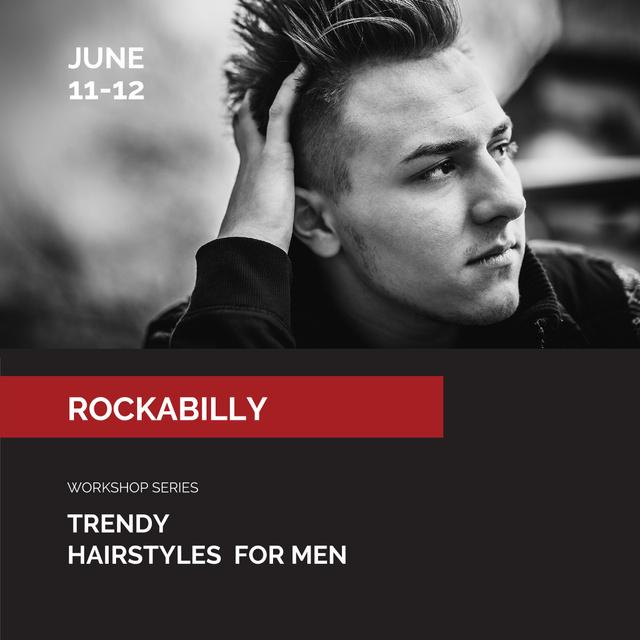 Szablon projektu Man with Stylish Haircut Instagram