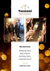 Party Organization Services Offer Golden Bokeh