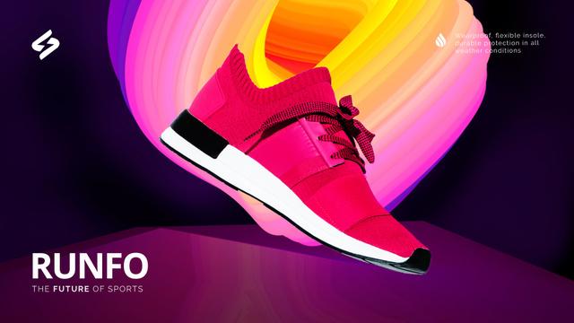 Ontwerpsjabloon van Full HD video van Sporting Goods Ad Running Pink Sports Shoe