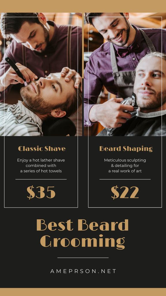 Man Shaving at Barbershop — Créer un visuel