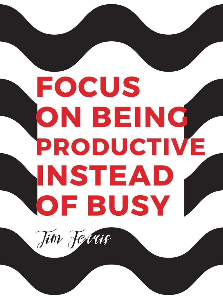 Productivity Quote on Waves in Black and White — Crea un design