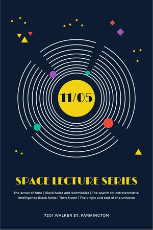 Plantilla de diseño de Space Event Announcement Space Objects System Tumblr
