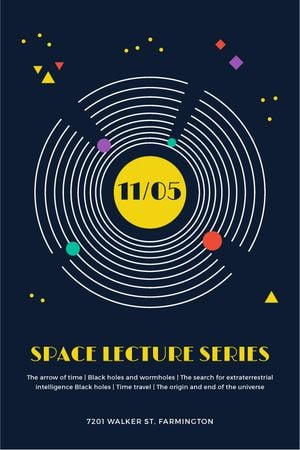 Template di design Space Event Announcement Space Objects System Tumblr