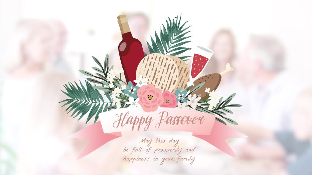 Happy Passover holiday — Créer un visuel