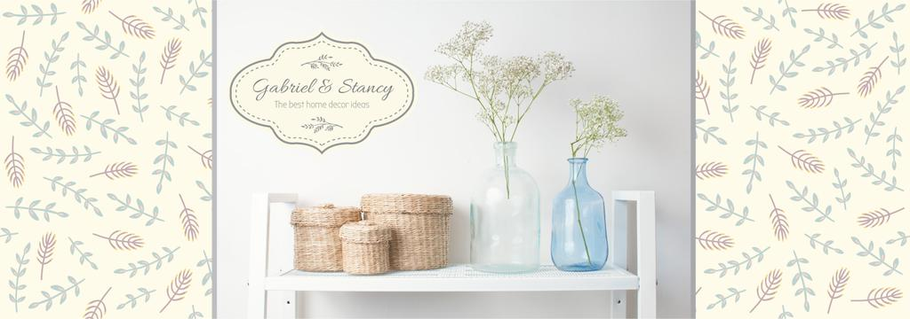 Home Decor Advertisement Vases and Baskets —デザインを作成する