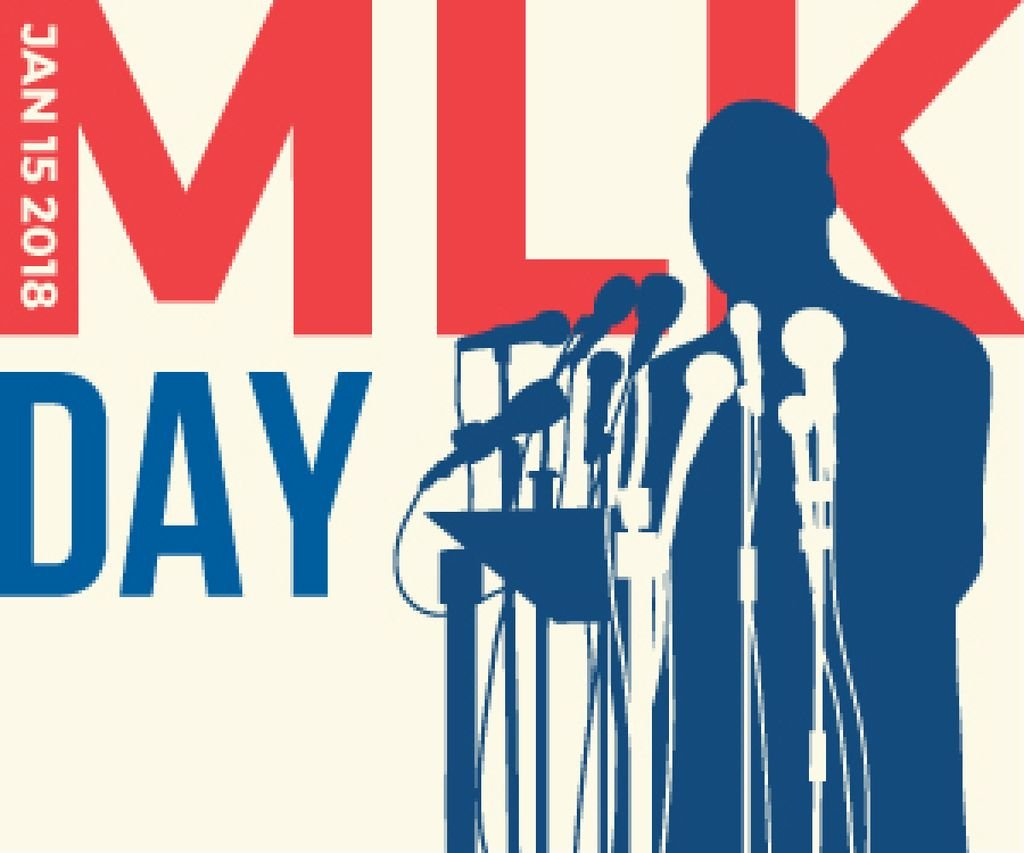 Martin Luther King day card — ein Design erstellen
