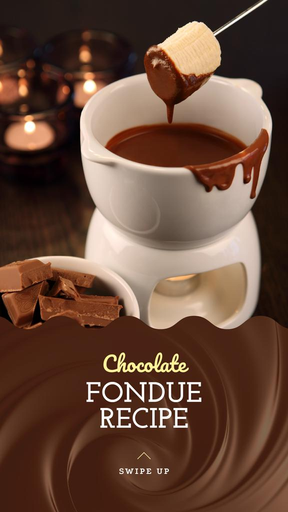 Chocolate Fondue Recipe Ad — Створити дизайн
