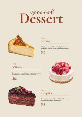 Ontwerpsjabloon van Menu van Bakery promotion with delicious Desserts