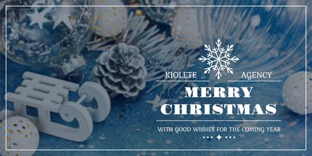 Template di design Merry Christmas greeting Twitter