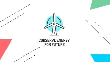 Conserve Energy with Wind Turbine Icon Youtube – шаблон для дизайна