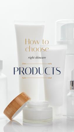 Cosmetics Ad Skincare Products Mock up Instagram Story Modelo de Design