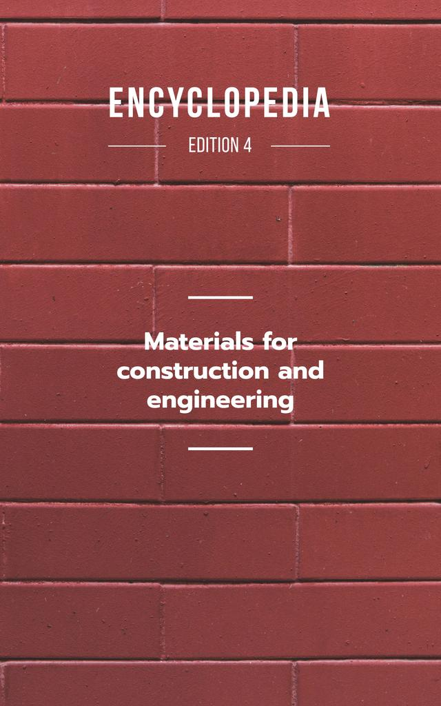 Red Brick Wall Book Cover – шаблон для дизайна