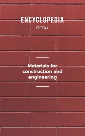 Red Brick Wall Book Cover Modelo de Design