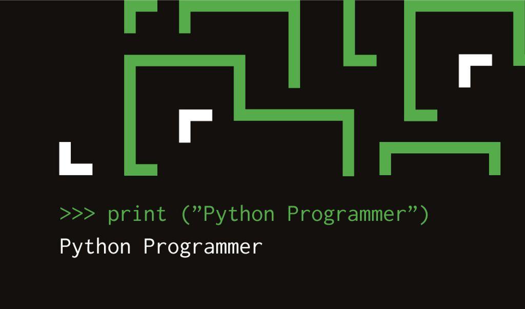 Programming Digital Lines on Screen   Business Card Template — Створити дизайн
