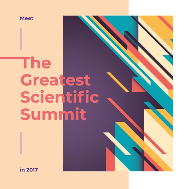 Modèle de visuel Summit Invitation Colorful Geometric Pattern - Instagram AD