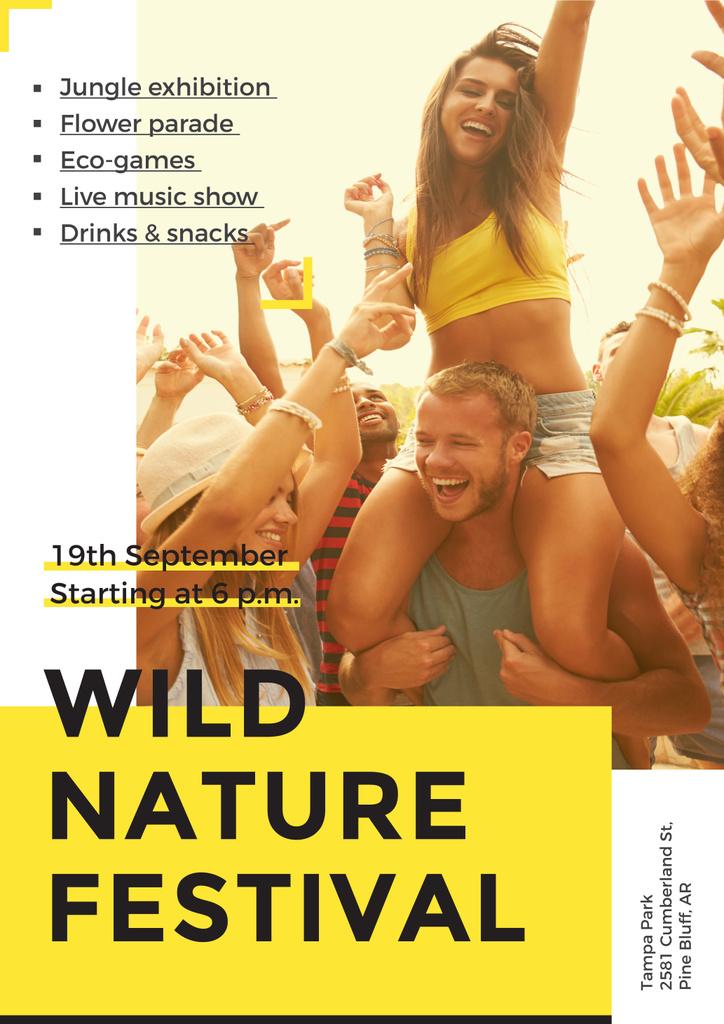 Wild nature festival — ein Design erstellen