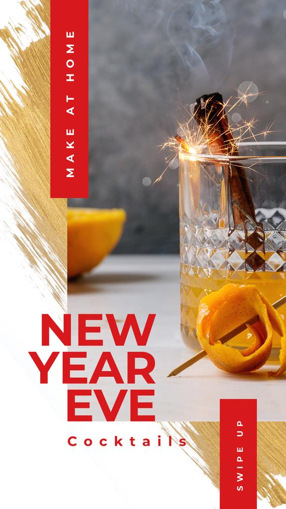 Christmas cocktail with sparkler — Create a Design