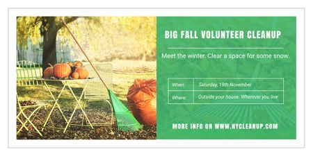 Big fall volunteer cleanup Image Modelo de Design